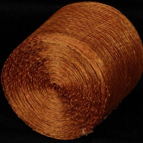 "Copper Brown Fiber Craft Ribbon 3"" x 64 Yards - IMAGE 1"