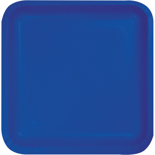 """Club Pack of 180 Decorative Cobalt Blue Disposable Paper Party Dinner Plates 9"""" - IMAGE 1"""