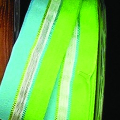 """Sheer Green and Blue Striped Wired Craft Ribbon 0.75"""" x 108 Yards - IMAGE 1"""