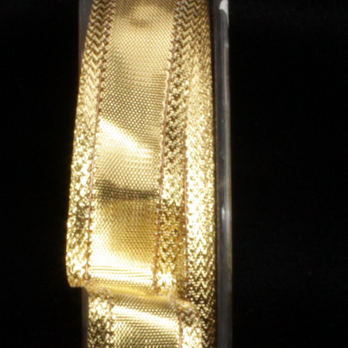 """Gold Metallic  Lame Craft Ribbon 0.75"""" x 108 Yards - IMAGE 1"""