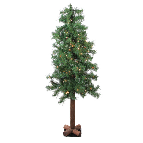 4' Pre-Lit Woodland Alpine Artificial Christmas Tree - Clear Lights - IMAGE 1