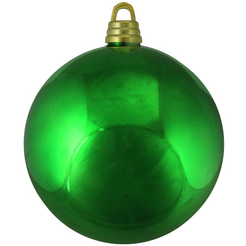 """Shiny Xmas Green Shatterproof Commercial Size Christmas Ball Ornament 12"""" (300mm) - IMAGE 1"""