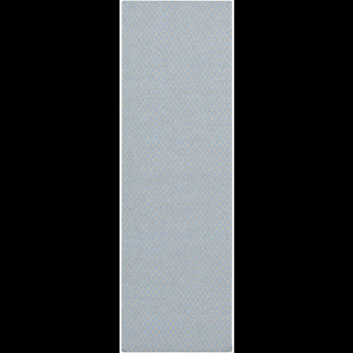 2.5' x 8' Neutral Simplicity Blue and Gray Hand Woven Rectangular Wool Area Throw Rug Runner - IMAGE 1