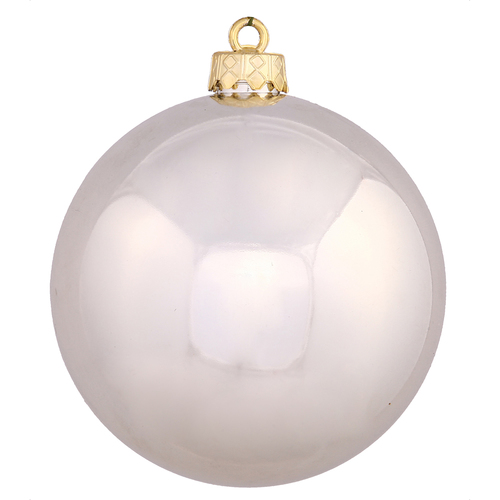 """Shiny Champagne Gold Shatterproof Christmas Ball Ornament 2.75"""" (70mm) - IMAGE 1"""