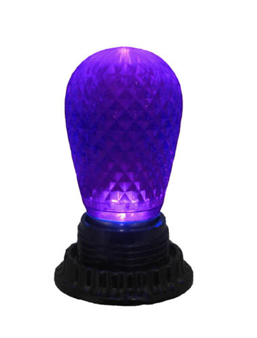 Club Pack of 25 LED Purple Replacement Christmas Light Bulbs - E26 Base - IMAGE 1