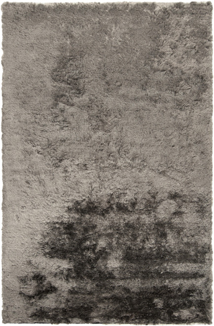 3.5' x 5.5' Shimmering Mottle Gray Plush Pile Hand Woven Area Throw Rug - IMAGE 1