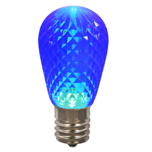 Club Pack of 25 LED Blue Replacement Christmas Light Bulbs - E26 Base - IMAGE 1
