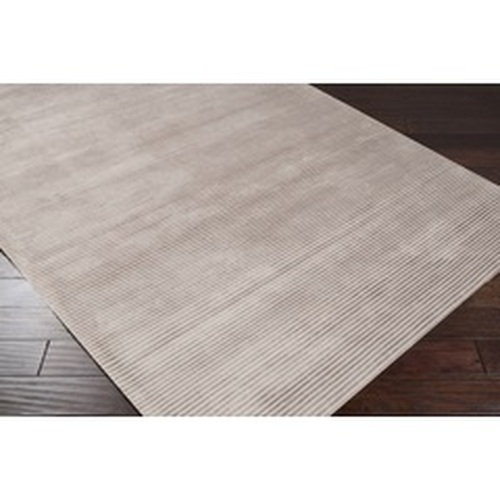 2.6' x 8' Northwest Pacifist Ivory and White Hand Loomed Rectangular Area Throw Rug - IMAGE 1
