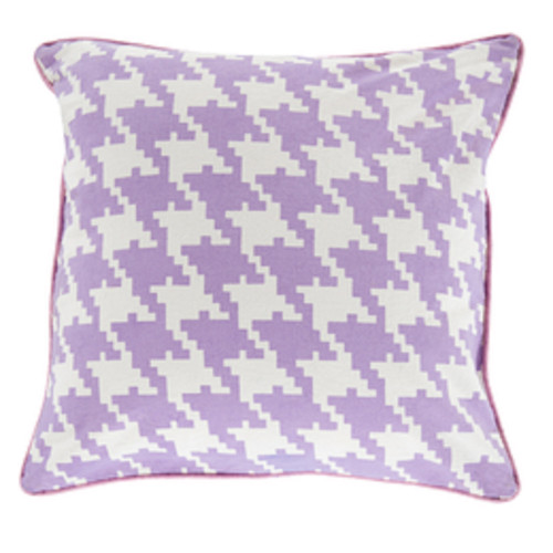 "18"" Purple, White and Pink Decorative Throw Pillow - Polyester Filler - IMAGE 1"