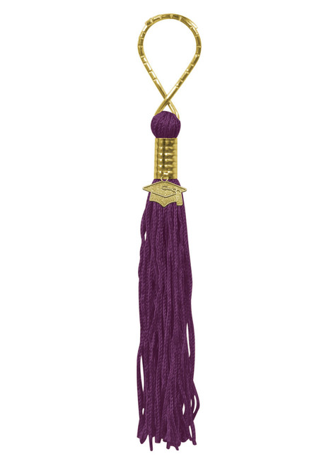 """Pack of 6 Maroon Graduation Tassel with Cap Medallion Key Chains 5.5"""" - IMAGE 1"""