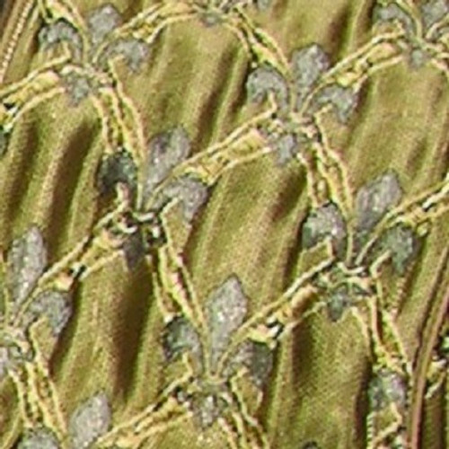 """Gold and Silver Fleur De Lis Wired Craft Ribbon 6"""" x 20 Yards - IMAGE 1"""