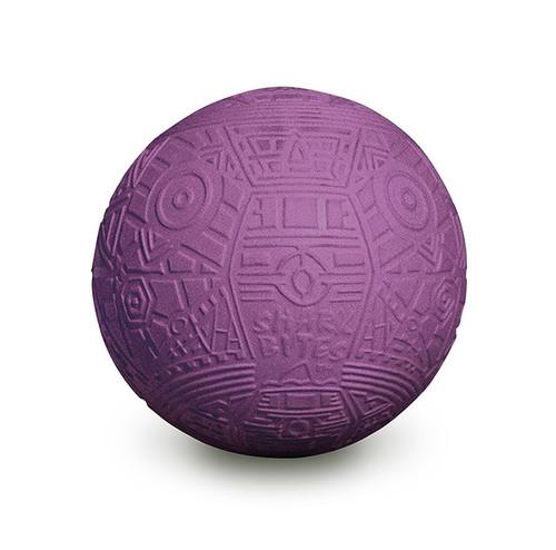 "7"" Purple Shark Bites Grip Balls Geometric Pattern Swimming Pool Toy - IMAGE 1"