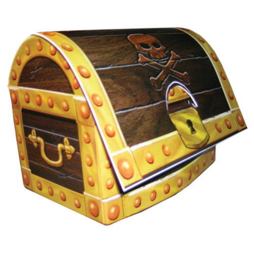 "Club Pack of 12 3D Buried Treasure Chest Centerpiece Party Decorations 9"" - IMAGE 1"