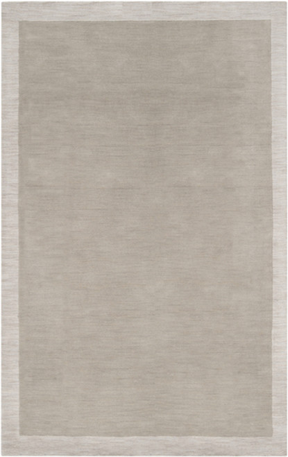 8' x 10' Simply Neutral Gray and Ivory Hand Loomed Rectangular Wool Area Throw Rug - IMAGE 1
