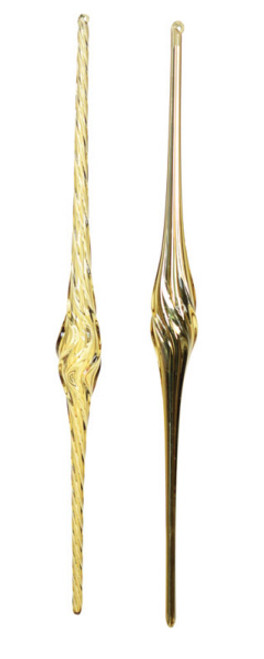 """18"""" Gold Twisted Spiral Icicle Christmas Ornament - IMAGE 1"""