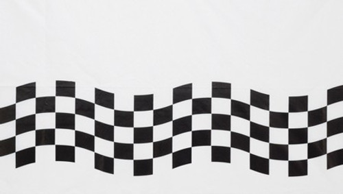 """Club Pack of 12 Black and White Checkered Disposable Banquet Party Table Cloth Covers 102"""" - IMAGE 1"""