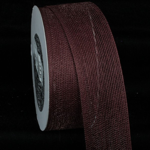 "Chocolate Brown Woven Edge Craft Ribbon 2"" x 27 Yards - IMAGE 1"