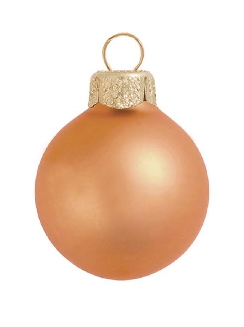 "2ct Burnt Orange Matte Glass Christmas Ball Ornaments 6"" (150mm) - IMAGE 1"