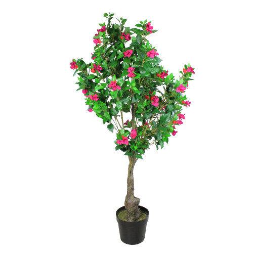 """74.5"""" Pink and Red Potted Artificial Bougainvillea Tree - IMAGE 1"""