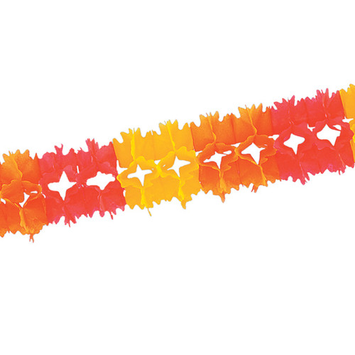 Club Pack of 12 Golden Yellow, Orange and Red Festive Pageant Garland Decorations 14.5' - IMAGE 1