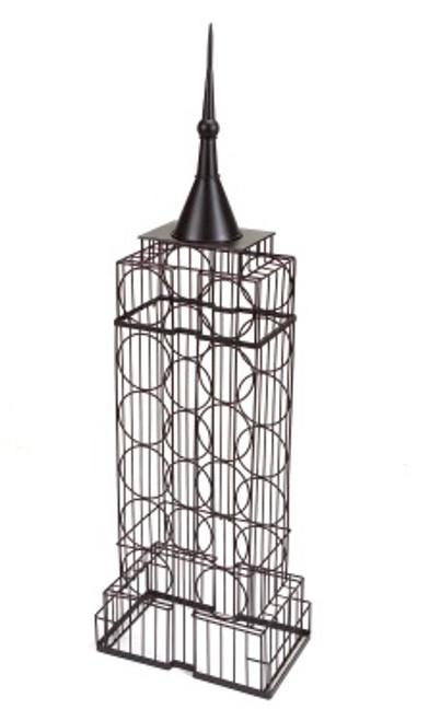 """44"""" Big Ben Inspired 10-Bottle Decorative Wine Rack Holder - IMAGE 1"""