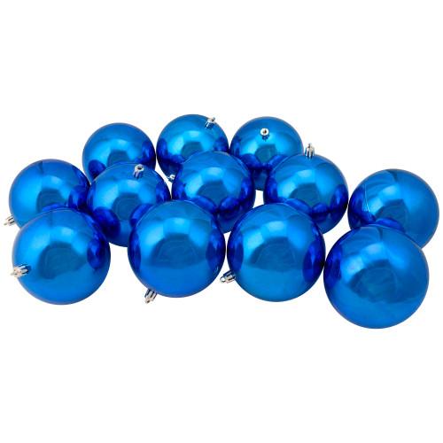 "12ct Lavish Blue Shatterproof Christmas Ball Ornaments 4"" (100mm) - IMAGE 1"