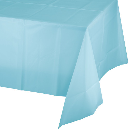 """Club Pack of 24 Pastel Blue Disposable Party Table Covers 108"""" - IMAGE 1"""