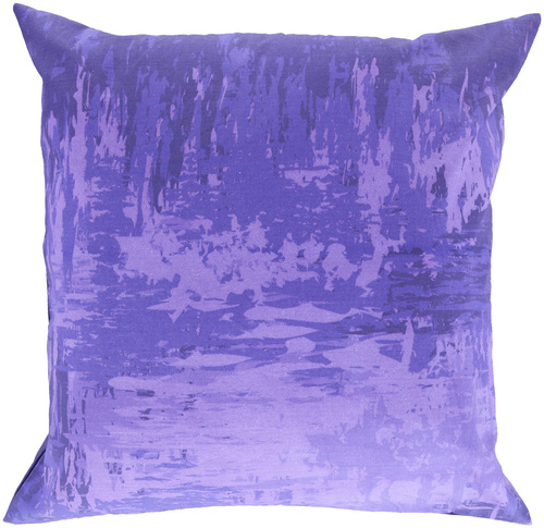 """18"""" Purple Solid Contemporary Square Throw Pillow - IMAGE 1"""