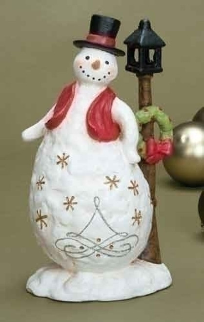 """'Tis the Season Battery Operated LED Lighted Snowman Christmas Figure 11"""" - IMAGE 1"""