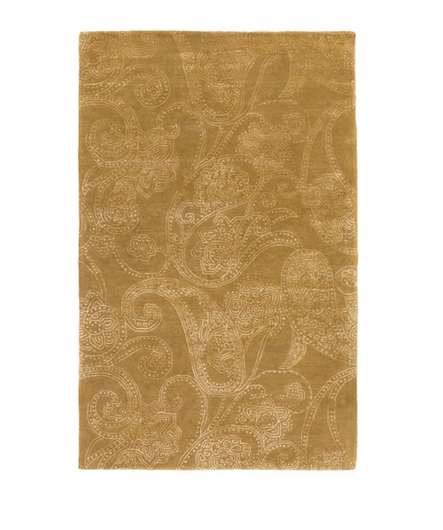 9' x 13' Brown and White Hand Tufted Area Throw Rug - IMAGE 1
