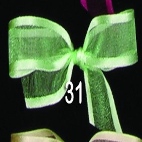 "Jade Green Solid Edged Craft Ribbon 0.5"" x 30 Yards - IMAGE 1"