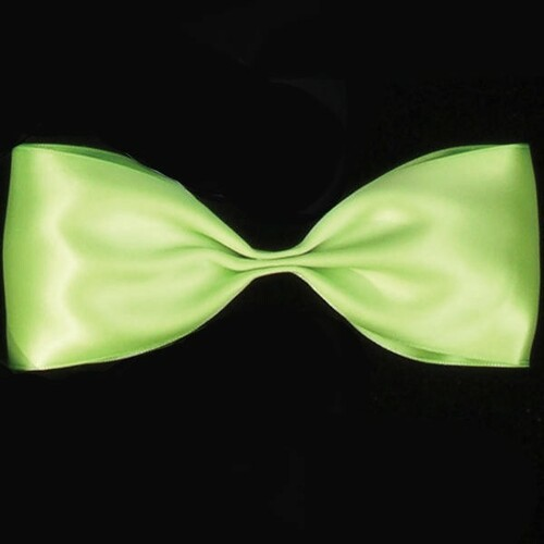 """Lime Green Double Face Craft Ribbon 2.5"""" x 27 Yards - IMAGE 1"""