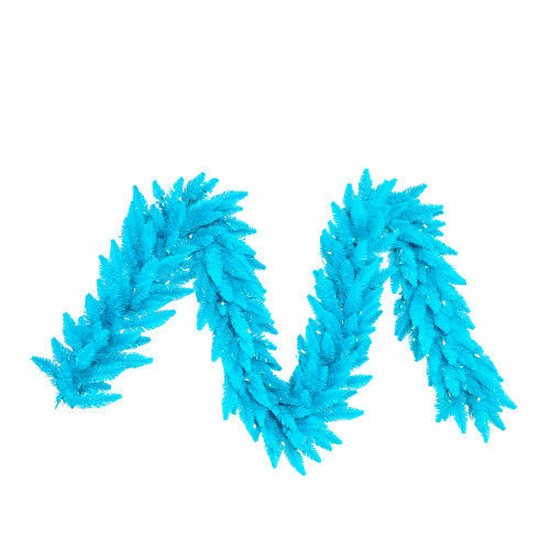 """9' x 10"""" Pre-lit Sky Blue Spruce Artificial Christmas Garland - Clear Lights - IMAGE 1"""
