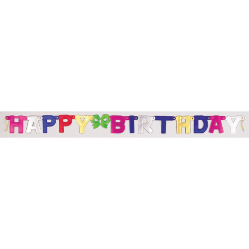 """Club Pack of 12 Red and Green """"Happy Birthday"""" Jointed Banner Party Signs 5' - IMAGE 1"""