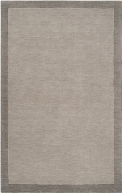 5' x 7.5' Neutral Light Gray Hand Loomed and Hand Carved Rectangular Wool Area Throw Rug - IMAGE 1