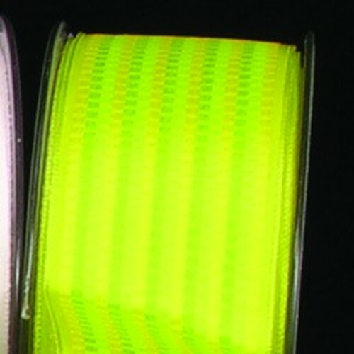 "Green Small Mixed Block Print Wired Craft Ribbon 1.5"" x 54 Yards - IMAGE 1"
