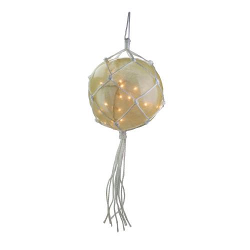 "35ct White Roped Light Ball Outdoor Christmas Decor 14.25"" - IMAGE 1"