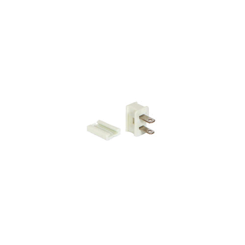 White Male Quick Zip Plug For SPT-1 18 Wire Gauge 8 Amps - IMAGE 1
