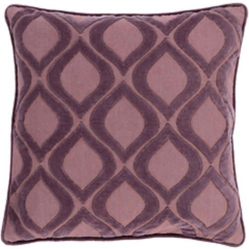 "22"" Purple Contemporary Diamond Square Throw Pillow - Down Filler - IMAGE 1"