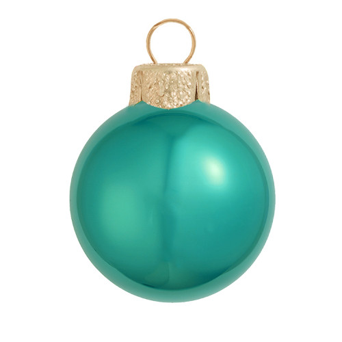 """4ct Pearl Teal Green Glass Ball Christmas Ornaments 4.75"""" (120mm) - IMAGE 1"""