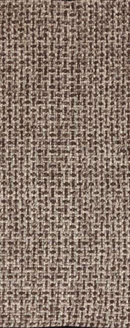 2.5' x 8 Transitional Geometric Mocha Brown and Beige Hand Woven Wool Area Throw Rug Runner - IMAGE 1