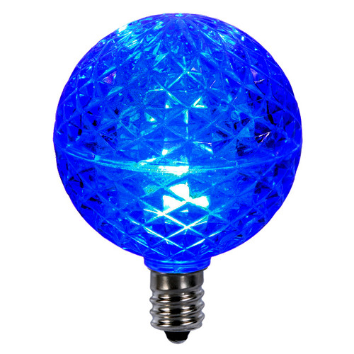 Club Pack of 25 LED G50 Blue Replacement Christmas Light Bulbs - E12 Base - IMAGE 1