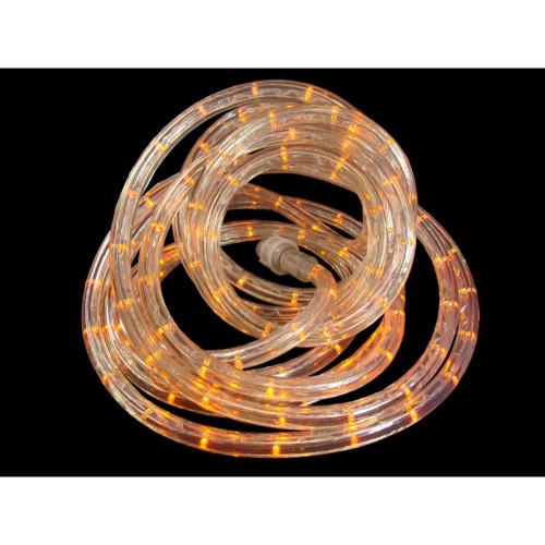 18' Orange Sunrise LED Christmas Rope Lights - Warm Clear Lights - IMAGE 1