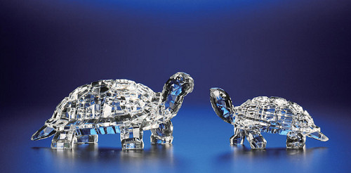 """Pack of 4 Clear Icy Crystal Decorative Turtle Figurines 2"""" - IMAGE 1"""