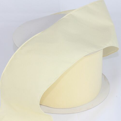 "Velvet Creamy Ivory Wired Craft Ribbon 5"" x 50 Yards - IMAGE 1"