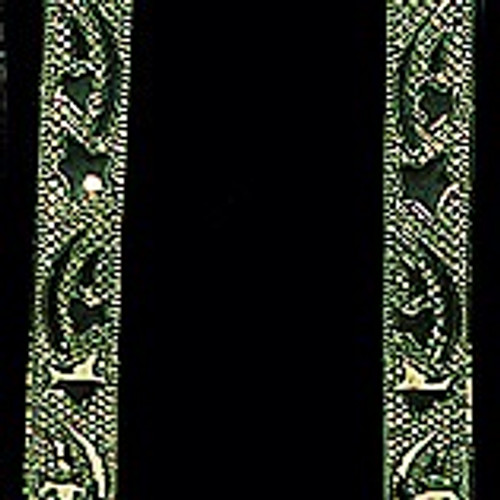 """Green and Gold Galaxy Wired Craft Ribbon 2.5"""" x 20 Yards - IMAGE 1"""