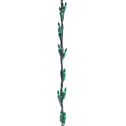 100-Count Green Christmas Garland Mini Light Set, 9ft Green Wire - IMAGE 1