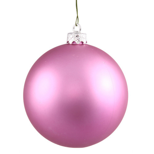 "Matte Orchid Pink Commercial Shatterproof Christmas Ball Ornament 2.75"" (70mm) - IMAGE 1"