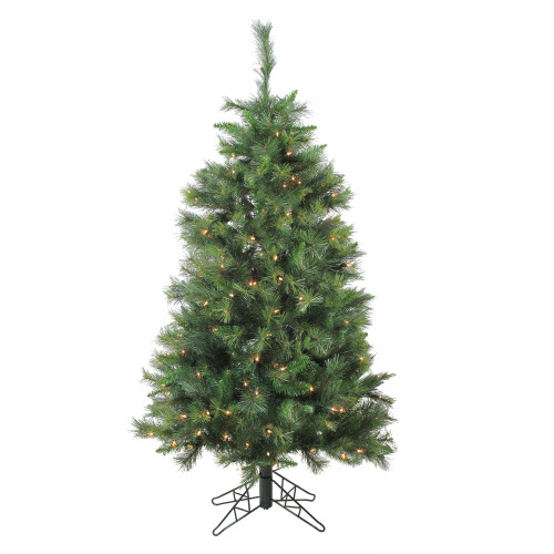 5' Pre-Lit Green Medium Canyon Pine Artificial Christmas Tree - Clear Lights - IMAGE 1