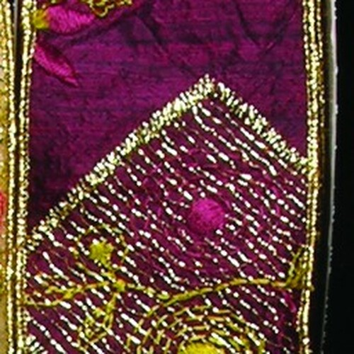 "Burgundy Satin with Elegant Stitching Wired Craft Ribbon 2.5"" x 10 Yards - IMAGE 1"